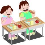 学校給食の写真